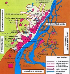 mapa de operaciones stalingrado